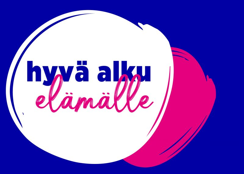 Hyvä alku elämälle kampanjan logo.
