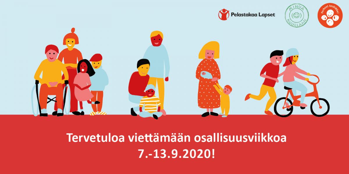 Perheet keskiöön! -hanke kutsuu viettämään osallisuusviikkoa syyskuussa!