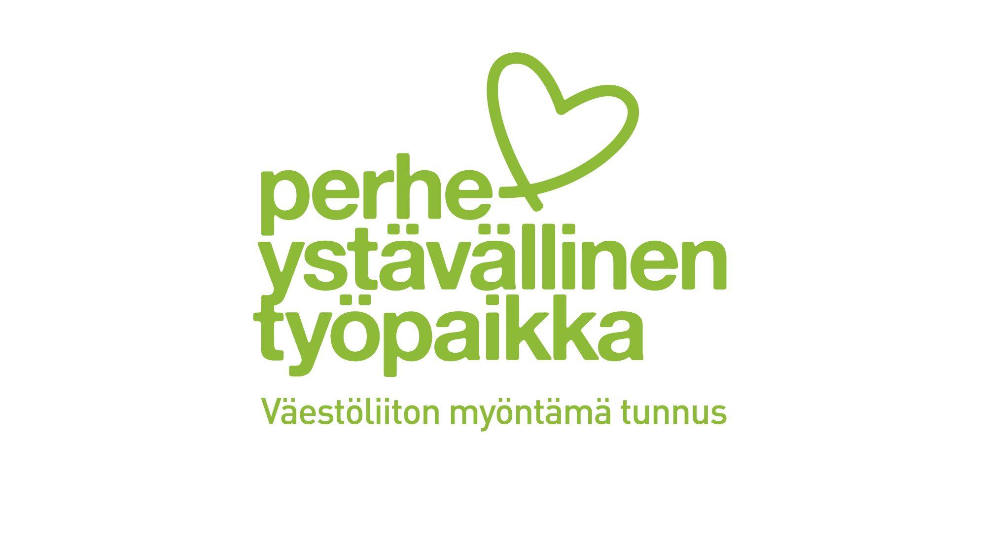 Perheystävällinen työpaikka -tunnus Lastensuojelun Keskusliitolle, Suomen Vanhempainliitolle ja Miessakeille