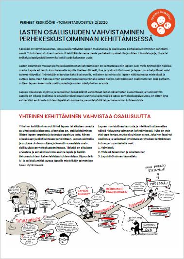 Perheet keskiöön! -toimintasuositus: Lasten osallisuuden vahvistaminen perhekeskustoiminnan kehittämisessä