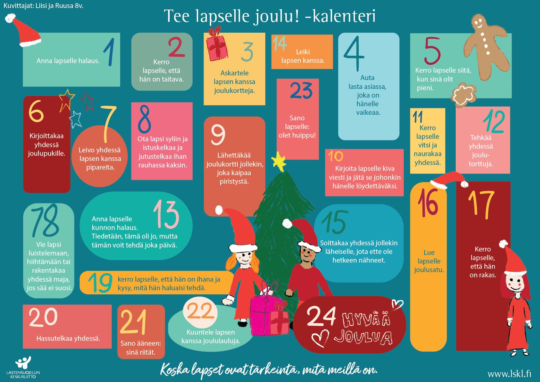 Tee lapselle joulu!